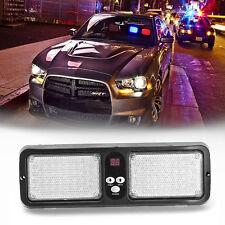 Blue&Red 86LED Car Sun Visor Flash Emergency Light 12 Flash Modes  Lamp Strobe
