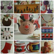KNITTING PATTERN BOOK Christmas 2 Xmas Decs Reindeer Xmas Pud Teacosy King Cole