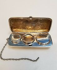 Antique Sterling Silver Engraved Coin Purse