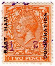 (I.B) George V Commercial Overprint : East Ham Corporation