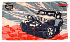 Jeep Flag Banner 3x5 Only in a Wrangler Grand Cherokee Renegade Compass Rubicon