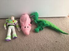 Lot 3 TOY STORY Hand Puppets Rex Hamm Buzz Lightyear Burger King Disney Pixar