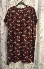 SCOTTIE DOGS 100% COTTON KNIT NIGHT SLEEP SHIRT NIGHTIE NIGHTGOWN~22~24~2X~3X~NW