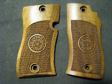 Star Model CU Checkered+LOGO Fine French Walnut Pistol Gun Grips Beautiful NEW!