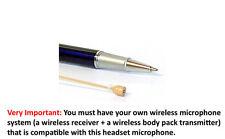 Mini Tan Headset Microphone Beige Headworn Mic Audio-Technica Compatible Hirose
