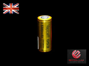 26650 Battery 3.7V Li-Ion G53 INR IMR 5300mAh 20A Genuine Vapcell UK Stock