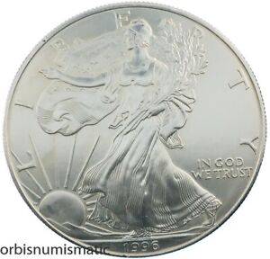 1996 AMERICAN SILVER EAGLE 1 DOLLAR 1 OZ 999 PURE LIBERTY UNITED STATES Z841