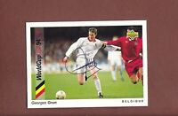Georges Grun ... Belgischer Nationalspieler .. Signierte Upper Deck Card