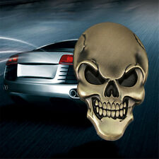 3D Metal Skull Bone Auto Car Motorcycle  Decor Emblem Badge Decal Sticker gold