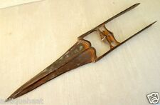 1850's Old Antique Hand Carved Damascus Iron Indo Persian Knife Dagger Katar
