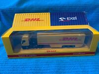 DHL/EXEL IVECO EUROSTAR TRACTOR/TRAILER PROMO 1:87 BY RIETZE AUTOMODELLE NIB