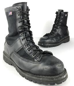 "Danner Acadia 8"" 22500 Black Leather GoreTex Tactical Boots 8EE Law Steel Toe"