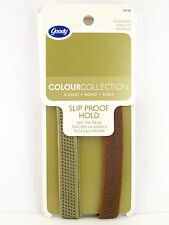 GOODY COLOUR COLLECTION SLIP PROOF HOLD HEAD BANDS - 2 PCS. - BLONDE (76778)