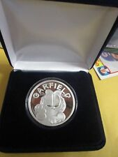 Garfield the Cat .999 fine silver oz bullion round W/case