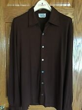 HERMES Men's Cashmere & Silk Shirt M