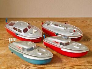 4 x Schuco Boote Teleco 3003 + Cabino & Elektro 5511 bespielt US-Zone