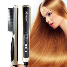 Garberiel Ceramic Hair Straightener Brush Anion Hair Care Comb with PTC Heater