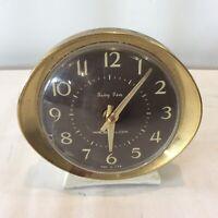 Vintage Retro Mid Century Atomic Shape Westclox Baby Ben Alarm Clock Made in USA