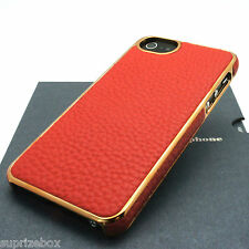 Genuine Leather Back Chrome Case Cover For Apple iPhone SE 5 and 5S By HOCO