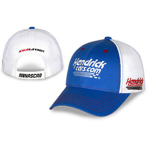 Kyle Larson #5 2021 HendrickCars.com Sponsor Mesh Adjustable Blue Hat