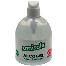 Sanisafe Pump Action Alcohol Hand Sanitiser IPA 70% 500ml