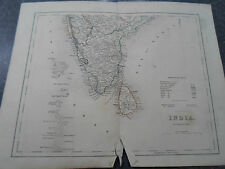 Antique Map ~ INDIA SOUTHERN - From The College Atlas For Schools+Families 1860
