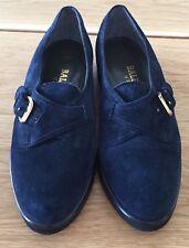 BALLY of Switzerland NEU Schuhe shoes Damen Wildleder Dunkelblau 5,5 EU 38,2/3
