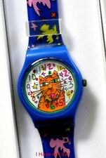 James Rizzi-Collectible Watch with Signed Case-3-D Art-Rare Item