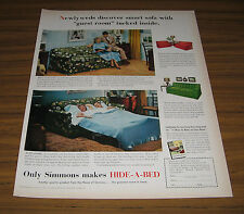 1953 Vintage Ad Simmons Hide-a-Bed Sleeper Sofas Happy Couple