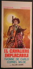 Locandina IL CAVALIERE IMPLACABILE 1954 RARISSIMA! YVONNE DE CARLO, CORNEL WILDE