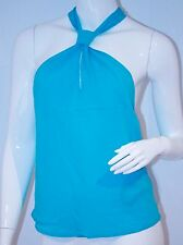 CENTRAL PARK WEST Halter TOP Lghtweaight BACK CHAIN Tie 44 Free Shipping