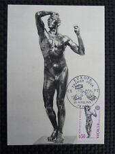 FRANCE MK 1974 EUROPA CEPT KUNST RODIN MAXIMUMKARTE MAXIMUM CARD MC CM c741