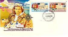 1984 Australia & New Zealand & Png 1st Official Mail - Cloverdale Wa 6105 Pmk