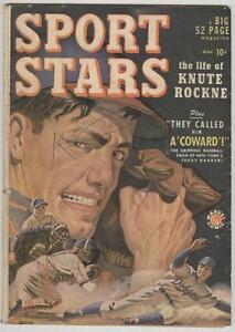 Sport Stars #1 Timely November 1949 VG Knute Rockne story