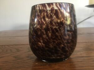 biba Tortoise shell glass  toothbrush holder / storage  / cup