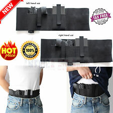 Belly Band Holster One Size for Concealed Carry Waist Handgun Gun with Pocket