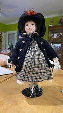 "Vintage, ""Boyds"" Yesterdays Child ""Autumn Porcelain Doll, L.E. #8,976/12,000."
