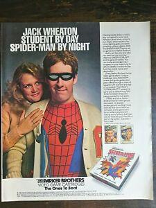 Vintage 1983 Spider-Man Parker Brothers Video Game Full Page Original Ad - 721