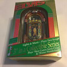 NEW Elvis Presley Jukebox 1997 Carlton Cards Christmas Ornament Mini 2 Songs