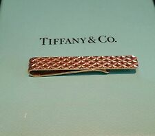 Estate 1950s TIFFANY & CO. 14k Solid Gold Tie Clasp Bar For Narrow Tie