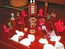 """Doll's House/Salotto In legno """" In Stile"""" Per Casette Delle Bambole (pz. 38)"""