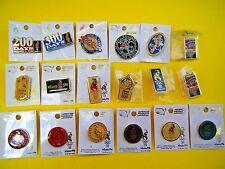 18 Olympic Pins Atlanta Georgia 1996 Countdown Torch Star Cultural Welcome Globe