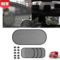 5Pcs/Set Car Side Rear Window Sunshade Sun Shade Mesh Cover Visor Shield Screen