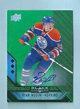 RYAN NUGENT-HOPKINS 2014/15 BLACK DIAMOND EMERALD SIGNATURE AUTOGRAPH AUTO /10