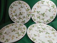 "Wedgwood Bone China 4 Dinner Plates 10 1/2""  Wild Strawberry"