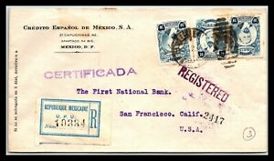 GP GOLDPATH: MEXICO COVER 1922 REGISTERED LETTER _CV747_P04