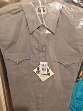 Ely Cattleman Men's Western SHIRT Long Sleeve GREY 15201905-80