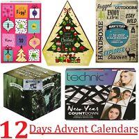 12 Days Technic Christmas Countdown Advent Calendar Cosmetics Men Gift MakeUp
