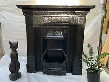 More details for victorian decorative cast iron fireplace