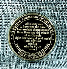 Silver Colored Muhammed Ali Heavy Weight Champion of the World Challenge Coin